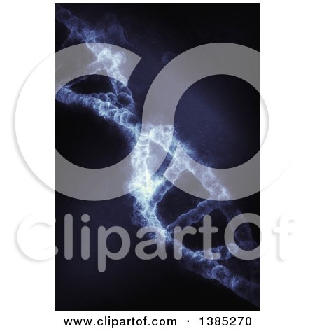 Clipart of a 3d Dna Strand with Smoke - Royalty Free Illustration by KJ Pargeter