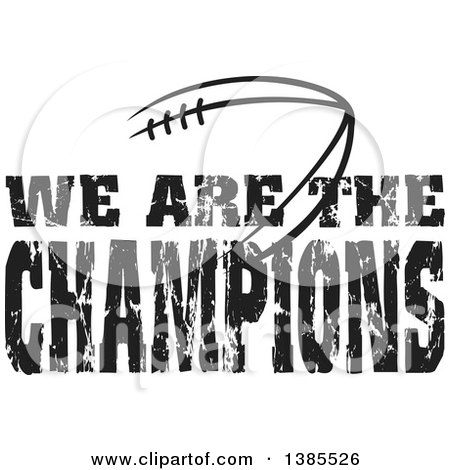 Royalty Free RF Clipart Of We Are The Champions Illustrations
