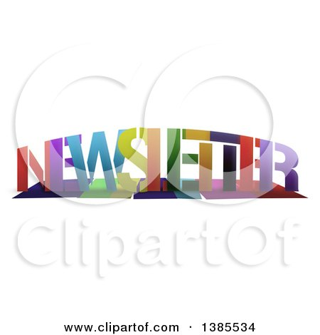 Clipart of a Colorful Word, NEWSLETTER, with Shadows, on White - Royalty Free Illustration by MacX