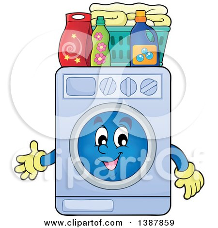 Laundry Detergent Clipart clipart of a clothes line with laundry air drying, washing machine
