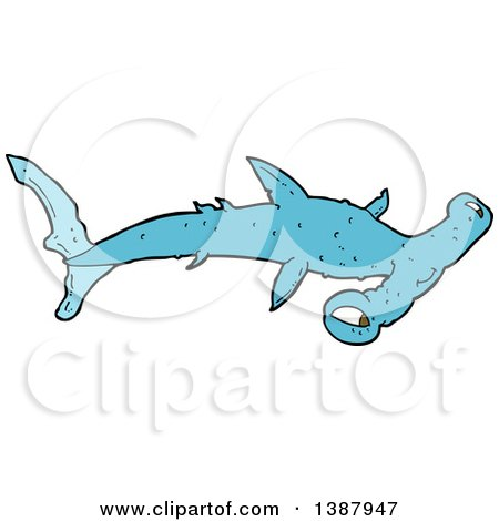 Clipart of a Hammerhead Shark - Royalty Free Vector Illustration by lineartestpilot