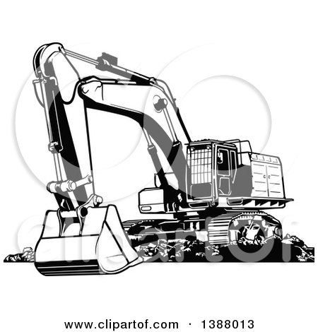 clipart of a cartoon excavator machine character royalty free vector illustration by dero 1313785. Black Bedroom Furniture Sets. Home Design Ideas