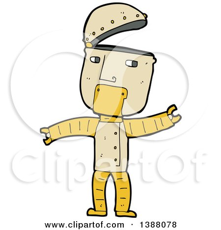 Clipart of a Cartoon Robot - Royalty Free Vector Illustration by lineartestpilot