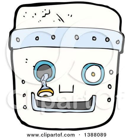 Clipart of a Cartoon Robot Face - Royalty Free Vector Illustration by lineartestpilot