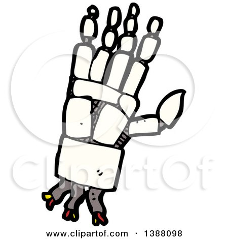 Clipart of a Cartoon Robot Hand - Royalty Free Vector Illustration by lineartestpilot