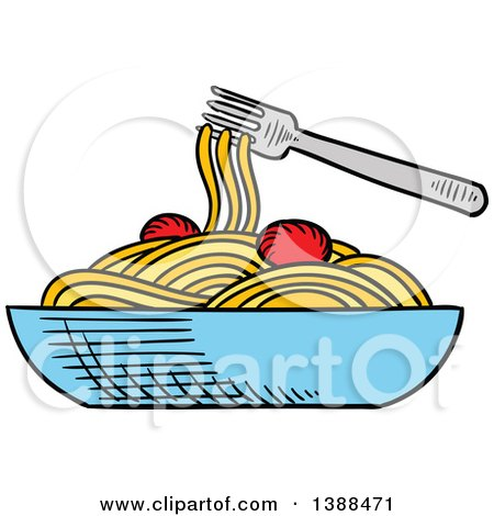 clipart of a sketched bowl of spaghetti royalty free vector rh clipartof com pasta clip art free pasta clipart png
