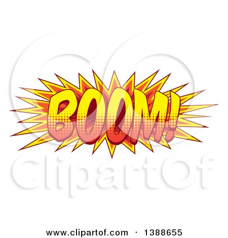 Clipart of a Comic Styled BOOM Explosion - Royalty Free Vector Illustration by AtStockIllustration