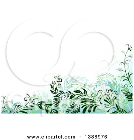 Clipart of a Background of Green Foliage - Royalty Free Vector Illustration by dero