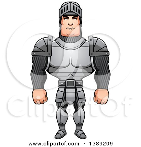 Clipart of a Buff Male Knight - Royalty Free Vector Illustration by Cory Thoman
