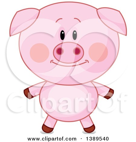 Clipart of a Cute Pig - Royalty Free Vector Illustration by Pushkin