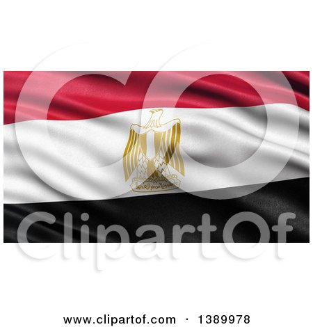 Clipart of a 3d Waving Flag of Egypt - Royalty Free Illustration by stockillustrations