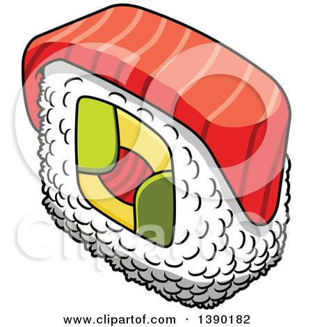 Clipart of a Sushi Roll - Royalty Free Vector Illustration by Vector Tradition SM