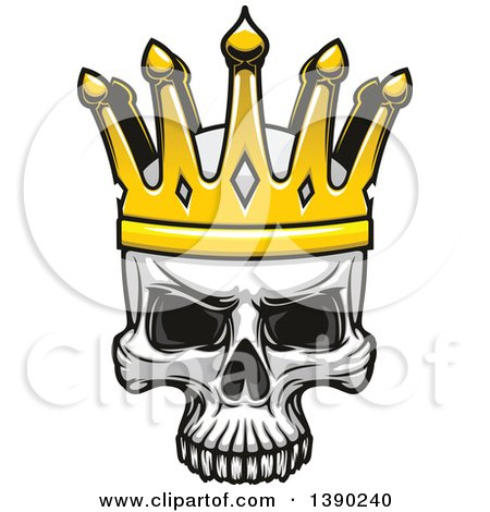 Clipart of a Human Skull Wearing a Crown - Royalty Free Vector Illustration by Vector Tradition SM