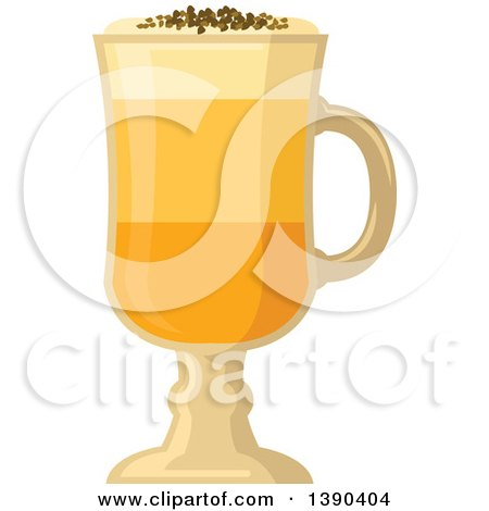 Clipart of a Coffee Drink in a Tall Glass - Royalty Free ...