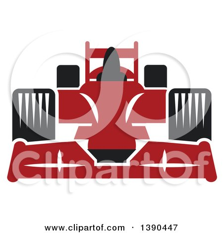 Clipart of a Red Race Car - Royalty Free Vector Illustration by Vector Tradition SM