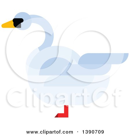 Clipart of a Mute Swan - Royalty Free Vector Illustration by Vector Tradition SM