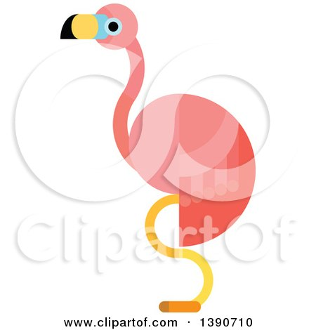 Clipart of a Pink Flamingo - Royalty Free Vector Illustration by Vector Tradition SM
