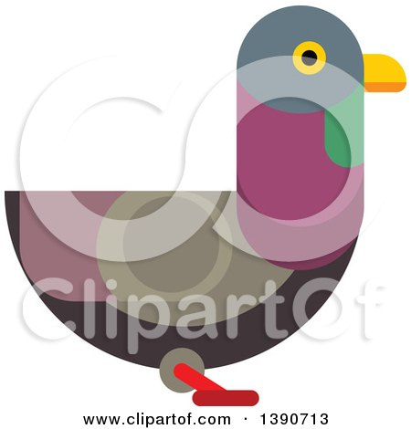 Clipart of a Pigeon Bird - Royalty Free Vector Illustration by Vector Tradition SM