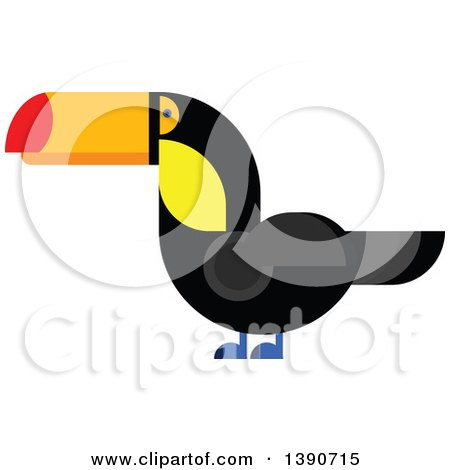 Clipart of a Toucan Bird - Royalty Free Vector Illustration by Vector Tradition SM
