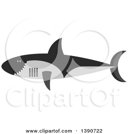 Clipart of a Shark - Royalty Free Vector Illustration by Vector Tradition SM