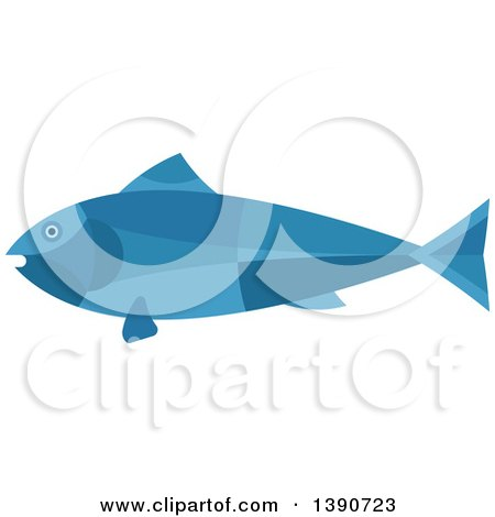 Clipart of a Blue Tuna Fish - Royalty Free Vector Illustration by Vector Tradition SM
