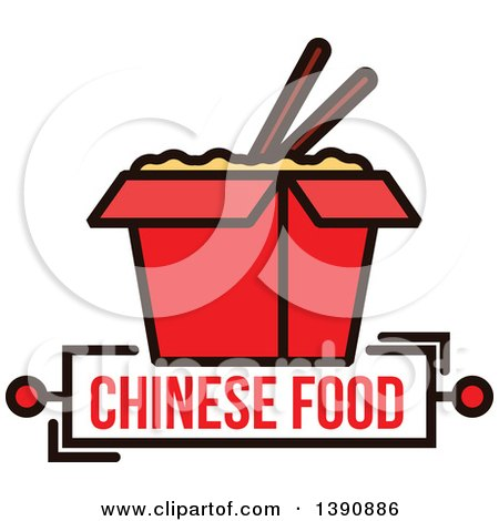 Royalty Free Rf Clipart Illustration Of A Chinese Take