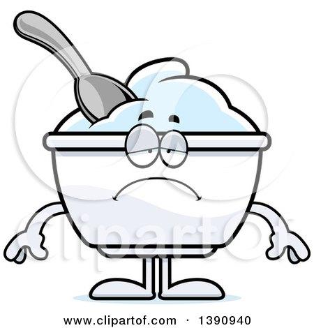 Cartoon Sad Plain Yogurt Mascot Character Posters, Art Prints