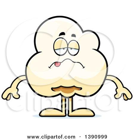 Cartoon Sick Popcorn Mascot Character Posters, Art Prints