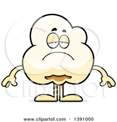 Cartoon Depressed Popcorn Mascot Character Posters, Art Prints