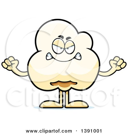 Cartoon Mad Popcorn Mascot Character Posters, Art Prints
