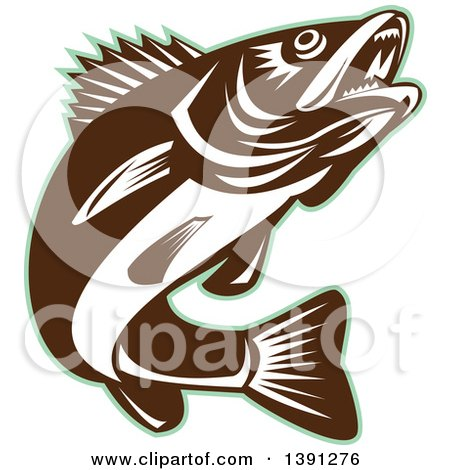 royalty free rf walleye clipart illustrations vector graphics 1 rh clipartof com Walleye Black and White walleye fish clipart