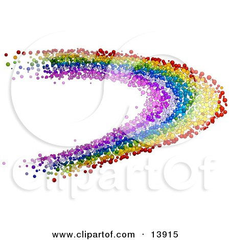 Colorful Rainbow Made of Bubbles Posters, Art Prints