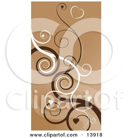 Heart Swirls Abstract Background Clipart Illustration by AtStockIllustration