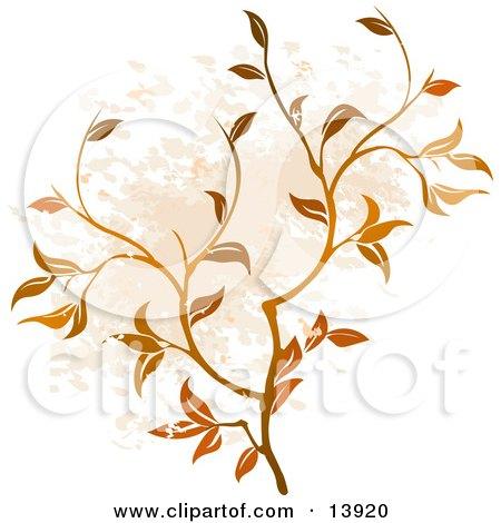 Floral Grunge Background Clipart Illustration by AtStockIllustration