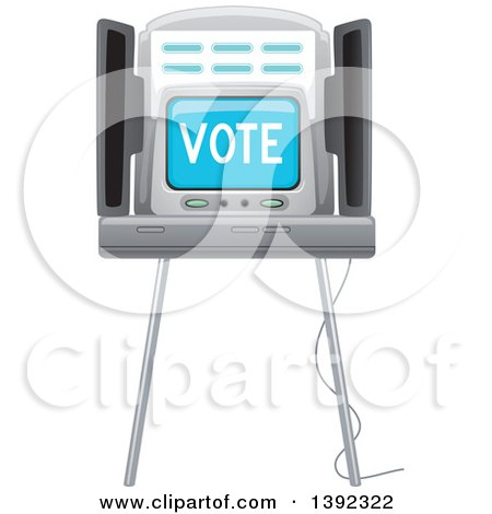 Clipart of a Voting Machine - Royalty Free Vector Illustration by BNP Design Studio