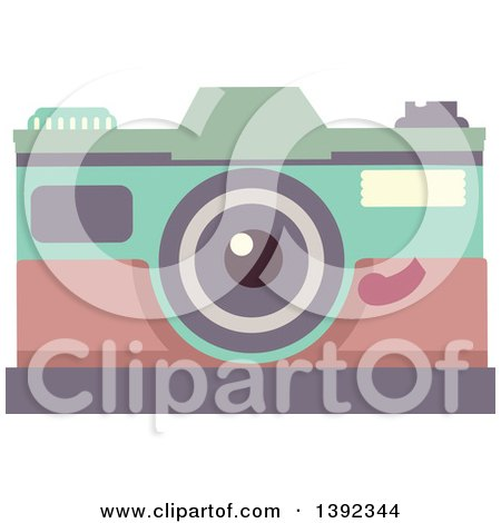 Clipart of a Flat Design Camera - Royalty Free Vector Illustration by BNP Design Studio