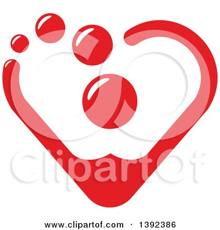 Clipart of a Red Heart Made of Blood Drops - Royalty Free Vector Illustration by Vector Tradition SM