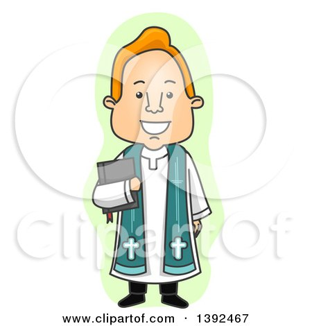 Royalty-Free (RF) Clip Art Illustration of a Cartoon Priest by Ron ...