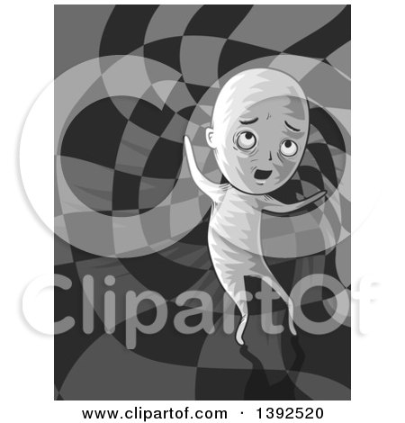 Clipart of a Man Traveling to Another Dimension - Royalty Free Vector Illustration by BNP Design Studio