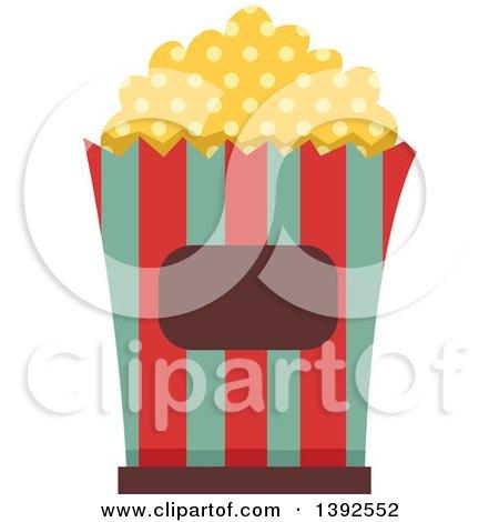 Flat Design Popcorn Bucket Posters, Art Prints