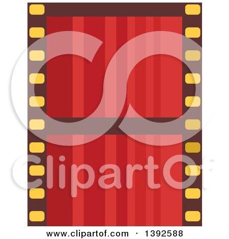 Flat Design Film Strip Posters, Art Prints