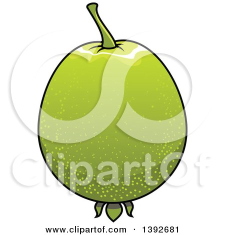 Clipart of a Guava Fruit - Royalty Free Vector Illustration by Vector Tradition SM