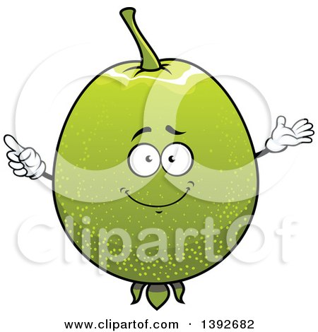 Clipart of a Guava Fruit Character - Royalty Free Vector Illustration by Vector Tradition SM
