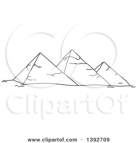 Clipart of a Gray Sketched Travel Landmark of - Royalty Free Vector Illustration by Vector Tradition SM