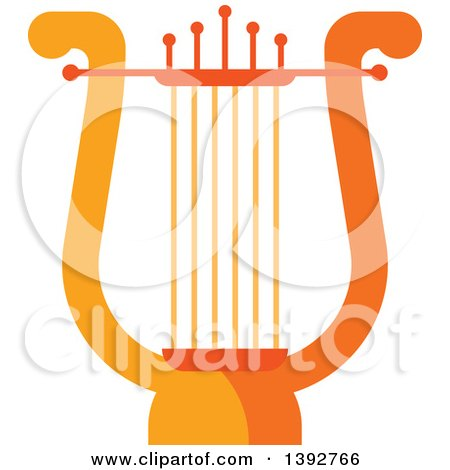 Clipart of a Flat Design Lyre - Royalty Free Vector Illustration by Vector Tradition SM
