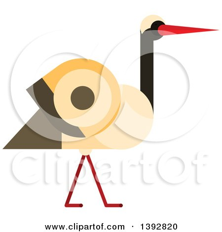 Clipart of a Baby Delivery Stork with a Boy - Royalty Free Vector ...