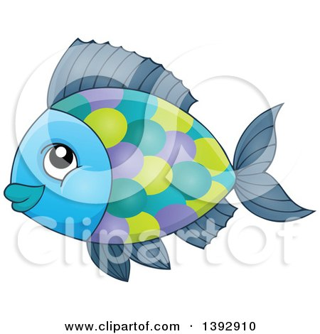 Clipart of a Colorful Fish - Royalty Free Vector Illustration by visekart