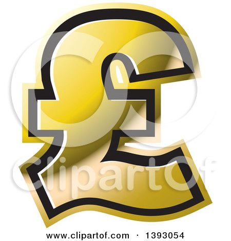 Clipart of a Gold Lira Currency Symbol - Royalty Free Vector Illustration by Lal Perera