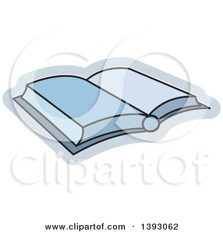 Clipart of an Open Book - Royalty Free Vector Illustration by Lal Perera