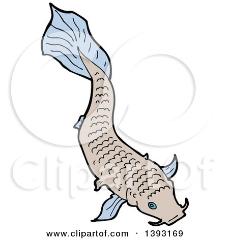 Clipart of a Koi Carp Fish - Royalty Free Vector Illustration by lineartestpilot